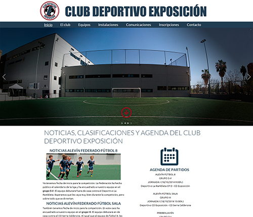 web cd exposición